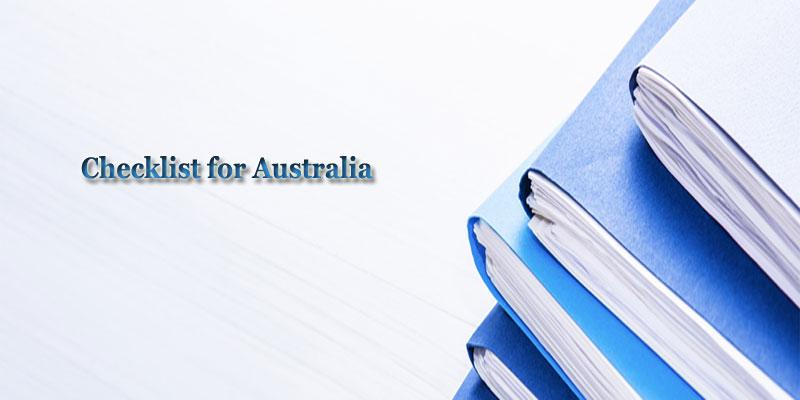 Checklist for Australia