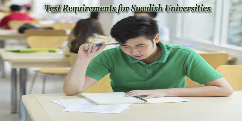 Test Requirements for Swedish Universities