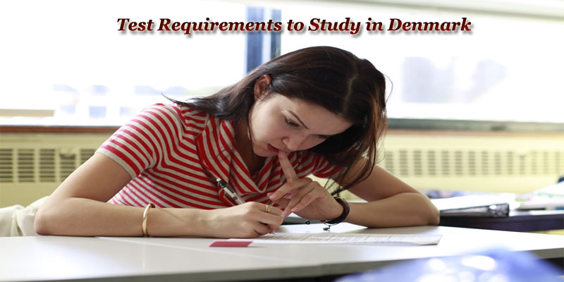 Test requirements to study in Denmark